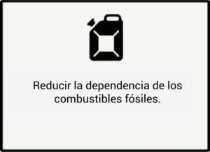 Reducir la dependencia de los combustibles fósiles